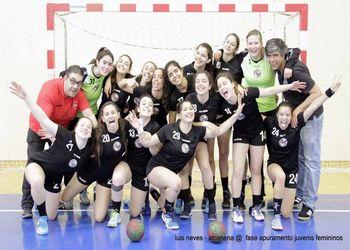 CS Juventude Mar - vencedor Fase Apuramento do Campeonato Nacional de Juvenis Femininos 2017-2018 - foto: Luís Neves
