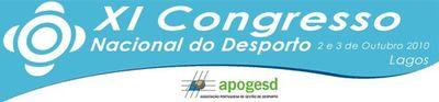 Logo XI Congresso Nacional do Desporto - 2 e 3 de Outubro - Vila Galé Lagos