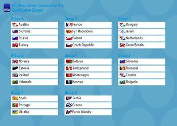 Foto sorteio qualificação europeia Mundial Sub21 2015