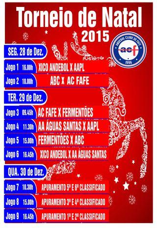 Cartaz Torneio de Natal - Cidade de Fafe