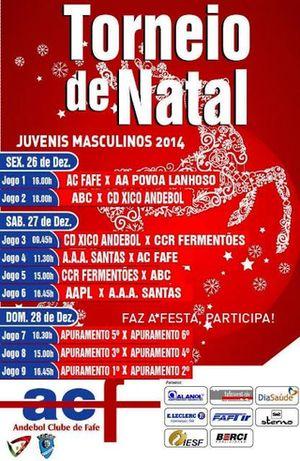 Cartaz Torneio de Natal Cidade de Fafe