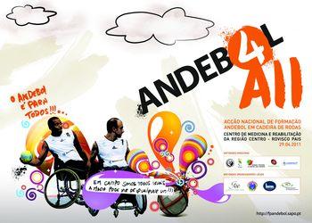 Cartaz Andebol4All - Centro de Medicina e Reabilitação da Região Centro - Rovisco Pais - 29.04.2011