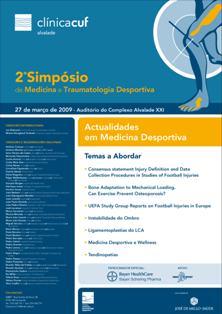 Cartaz 2º Simpósio de Medicina e Traumatologia desportiva da Clínica Cuf Alvalade
