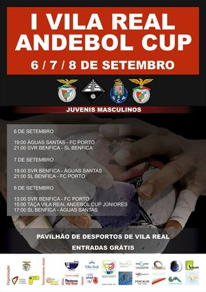 Cartaz Torneio Vila Real Andebol Cup