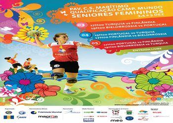 Cartaz Qualificação Campeonato Mundo Seniores Femininos - 3 a 5.12.10