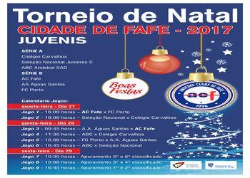 Cartaz Torneio de Natal Cidade de Fafe 2017 - destaque principal