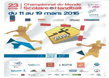 Cartaz 23º Handball World School Championship