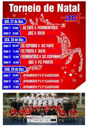 Cartaz Torneio de Natal Cidade de Fafe de 27 a 29 de Dezembro