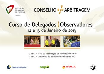 Cartaz do Curso de Delegados / Observadores - 12 e 13 de Janeiro de 2013