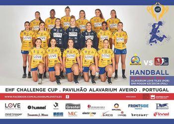 Cartaz Alavarium Love Tiles - Pogon Szczecin - Challenge Cup Feminina