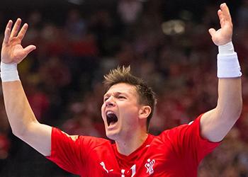 Dinamarca : Suécia - Campeonato do Mundo Seniores Masculinos 2019 - Foto: IHF