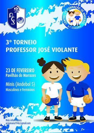 Cartaz 3º Torneio Professor José Violante - 2019