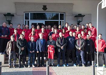 Receção na Câmara Municipal de Celorico da Beira - Seleção Sub-21 e Sub-19 Masculinas (1)