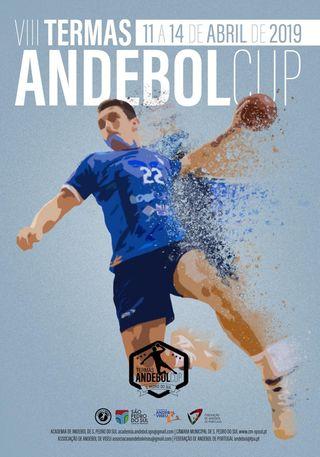 Cartaz VIII Torneio Termas Andebol CUP - São Pedro do Sul 2019