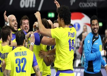 Croácia : Brasil - Campeonato do Mundo Seniores Masculinos 2019 - foto: IHF