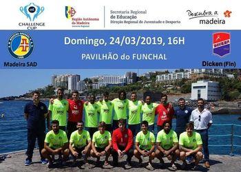 Cartaz AM Madeira A. Sad : Dicken - 1/4 Final Challenge Cup Masculina
