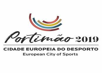 Logo Portimão Cidade Europeia do Desporto 2019