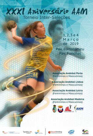 Cartaz XXXI Aniversário AAM - Torneio Inter-Seleções