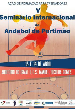 Cartaz Seminário de Andebol de Portimão 2019