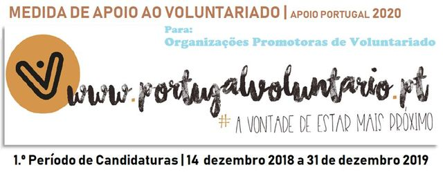 "IPDJ - Abertura de candidaturas da medida ""Apoio ao Voluntariado"" - Portugal 2020"