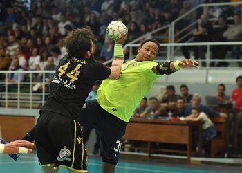 AM Madeira A. Sad : AEK Atenas - Challenge Cup - 1ª mão - 1/2 final - foto: Aspress/Helder Santos