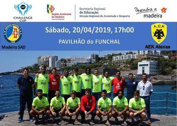 Cartaz AM Madeira A. Sad : AEK Atenas - 1/2 Final - Challenge Cup