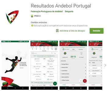 Aplicação Resultados Andebol Portugal