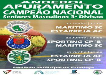 Cartaz - Fase Final do Campeonato Nacional de Seniores Masculinos da 3ª Divisão 2018/ 2019