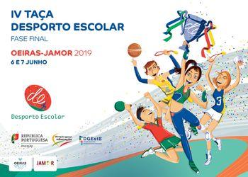 Cartaz - IV Taça Desporto Escolar - 6 e 7 de Junho 2019 - Jamor