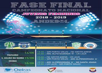 Cartaz da Fase Final do Campeonato Nacional Juvenis Femininos - Oeiras, 14 a 16.06.2019