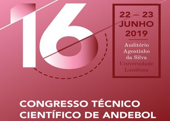 Cartaz 16º Congresso Técnico Científico de Andebol