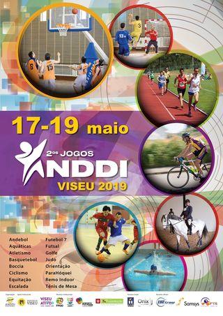 Cartaz 2ºs Jogos ANDDI Portugal – Viseu 2019