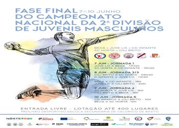 Cartaz Fase Final do Campeonato Nacional Juvenis Masculinos 2ª Divisão - 7 a 10 Junho 2019, Celorico de Basto