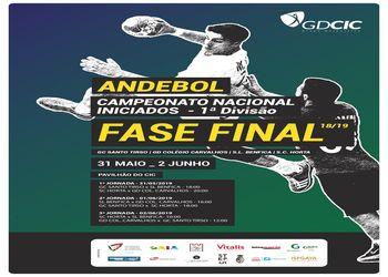 Cartaz Fase Final do Campeonato Nacional de Iniciados Masculinos 2018/2019