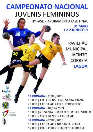 Cartaz - Fase de Apuramento do Campeonato Nacional de Juvenis Femininos - Lagoa