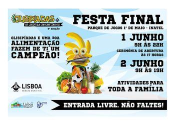 Cartaz Festa Final - 5ª edição das Olisipíadas - 01.06.19, Parque Jogos 1º Maio-Inatel