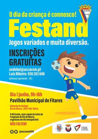 Cartaz - Festand Dia da Criança no Pavilhão de Fitares - AC Cacém