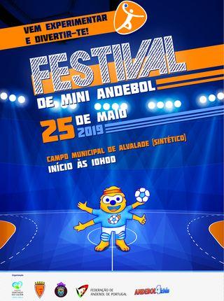 Cartaz - Festival de Mini Andebol - Santiago do Cacém - 25.05.19